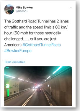 Gotthard Road Tunnel Inside